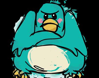 Pout'n Pigeon Mock Logo