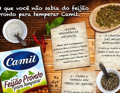 Feijão Camil pronto para temperar.