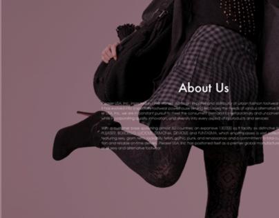 Pleaser USA website redesign