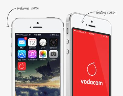 Vodacom iOS7 app Concept