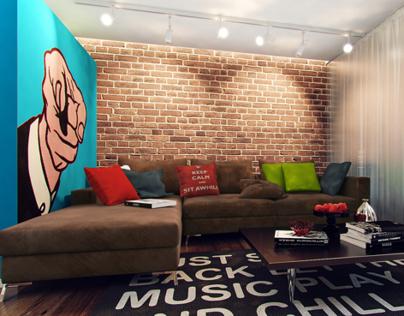 Pop art interior