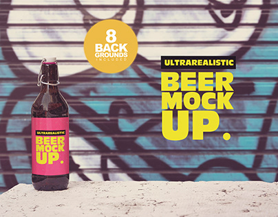 50cl Beer Mockup Background