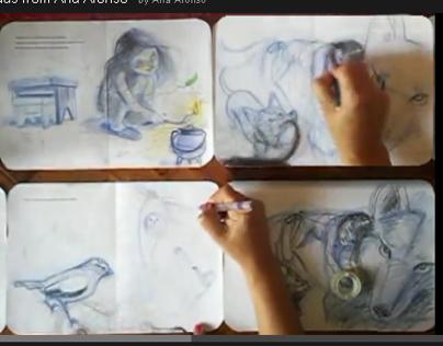 "Picturebook_ ""the wolf"" Northeast Portuguese folktale"