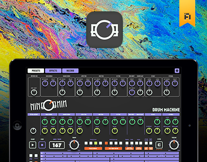 nineOnine - Drum machine iPad app: Fluo Version