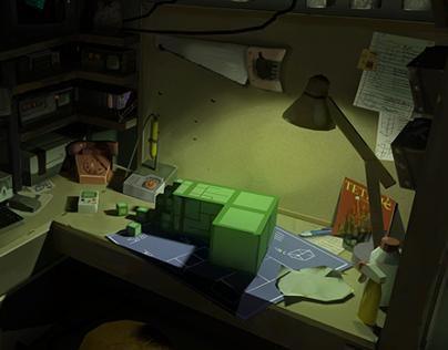Oculus Rift Diorama : Blocked In (Tetris Apocalypse)