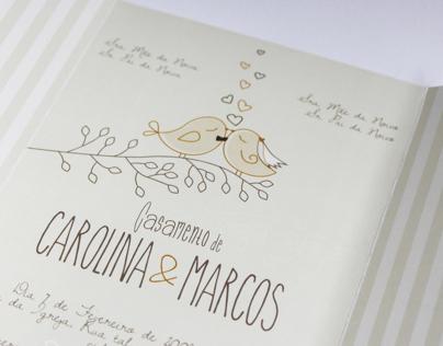 Carol's Wedding Invitation