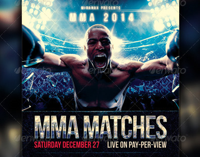 Mma  Ufc  Boxing Fight Flyer Template On Behance