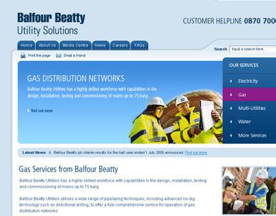 Balfour Beatty - Website Development