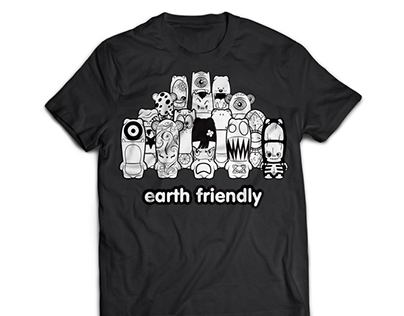 """Earth Friendly"" MIMOBOT T-Shirt"