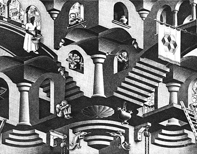 Convex and Concave - M. C. Escher REWORK