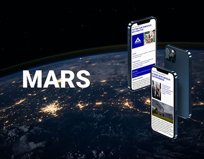 MARS| Redesign (corporate website)