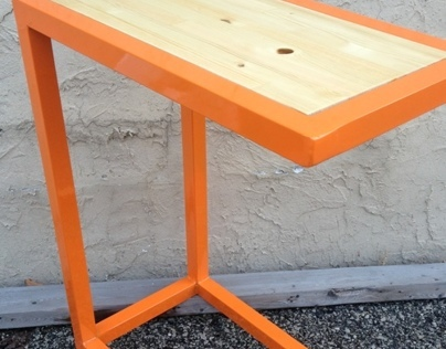 Upcycled Couch/Side Table