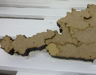 Austrian Map - Topographic