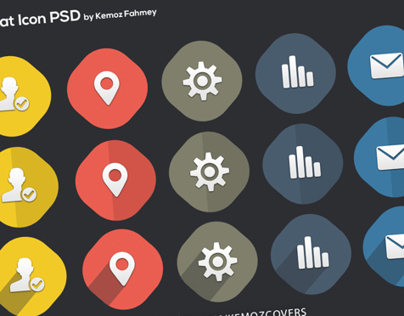 Vector Flat Icons 3 Versions Free