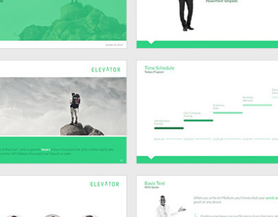 elevator powerpoint - elevate your business on behance, Powerpoint templates