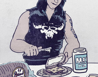"""Glenn Danzig Making a Sandwich"""