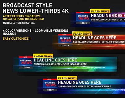 Broadcast Style News Lower-Third 4K