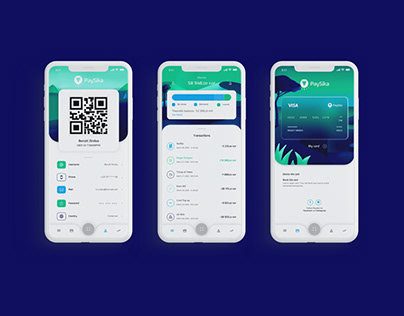 Paysika - Mobile App design