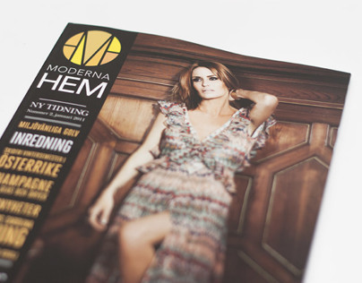 Visual identity of magazine - Moderna Hem