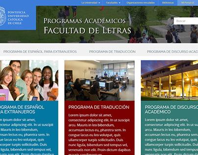 Programas Académicos Facultad de Letras UC