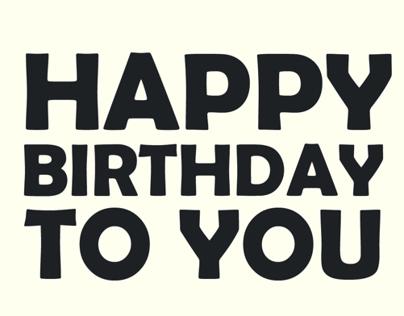 A birthday card to my friend