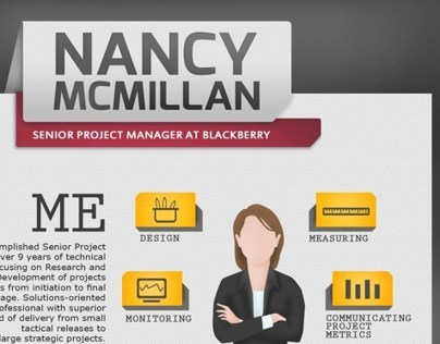 Infographic resume program manager