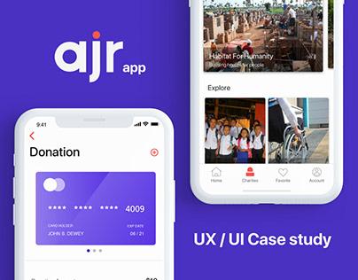 AJR App - UX/UI Case study