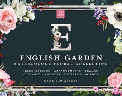 English Garden Watercolour Floral Collection