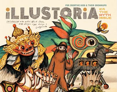 Illustoria #14: The Myth Issue Cover