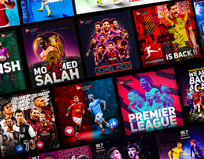Football Social posters ( Sports graphics )