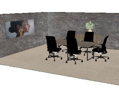 Mesa sala de juntas y credenza para Tabel Mobiliario