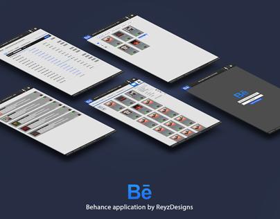 Behance phone application design