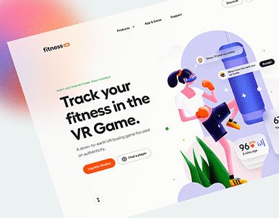 Fitness VR Game Illustration – Hero Header