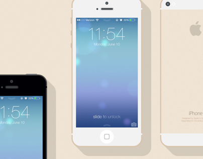 Freebie: Flat iPhone 5s Mockups