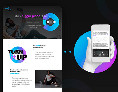 Landing Page for Start Up
