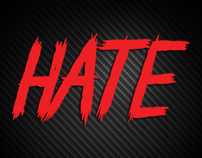 HATE VECTOR FONT