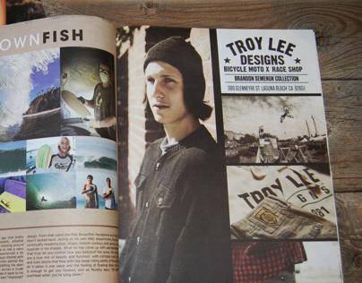 Troy Lee Designs MTB print advertising- Blisss Magazine
