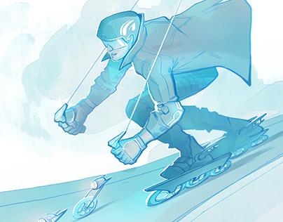 Rollerblade in Line skates