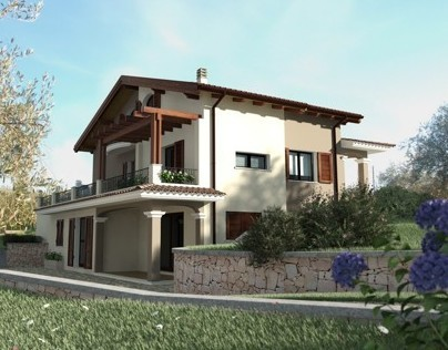 Exterior render house