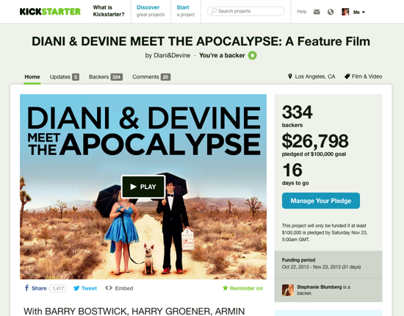 DDMTA Kickstarter Campaign