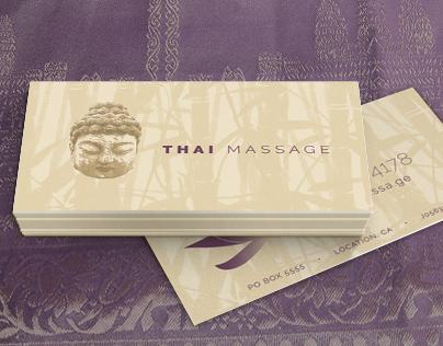 Thai Massage Business Card