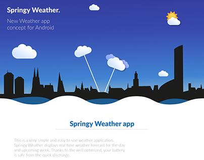 Springy Weather App