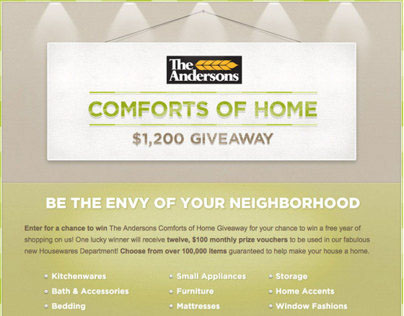 The Andersons Comforts of Home Campaign