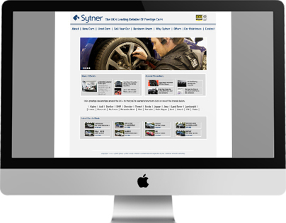 Concept Design For Sytner Group Website