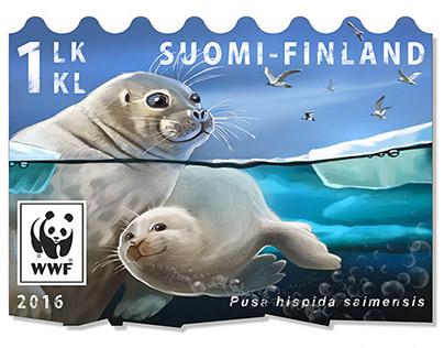 Endangered species post stamps