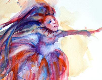 Watercolor Sketches-Fantasy, Illustration