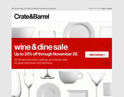 Crate&Barrel Eblast Redesign