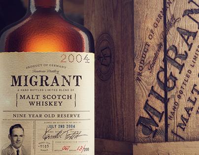 3D Migrant Whiskey Bottle