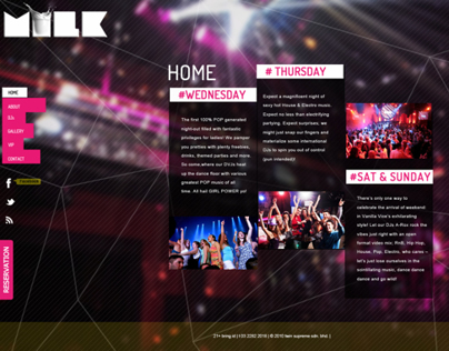 Redesign website -MILK club