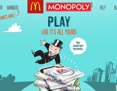 McDonald's - 2013 Online Monopoly Game